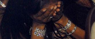 Naomi Campbell crying