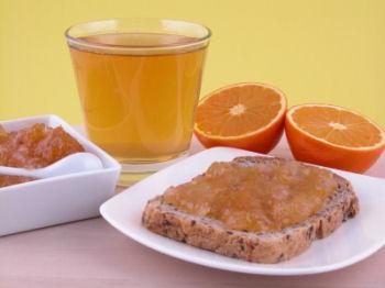 Breakfast sandwich juice