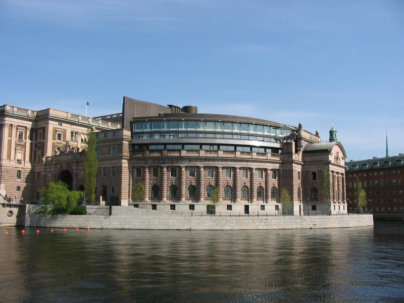 Riksdag building on Helgeandsholmen in Stockholm, Sweden. Image Credit: Photograph: Andreas Ribbefjord on May 9, 2004